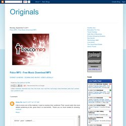 Originals: Palco MP3 - Free Music Download MP3