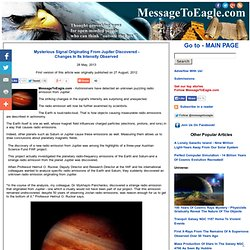 Mysterious Signal Originating From Jupiter Discovered - Changes In Its Intensity Observed