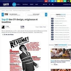 Top 57 CV design, originaux et insolites et Curriculum vitae modernes gratuits