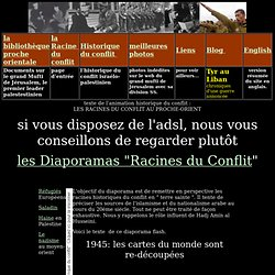 Propagande zionist origine du conflit