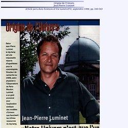 ORIGINE DE L'UNIVERS