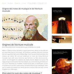 Fiche 4 Origine des notes de musique et de l'écriture musicale