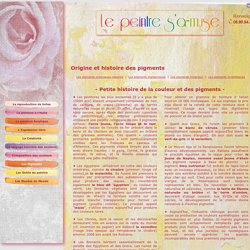 Origine et histoire des pigments