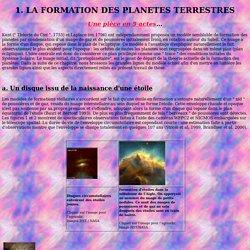 Origine des planètes terrestres