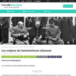 Darwinisme social-Les origines de l'antisémitisme allemand