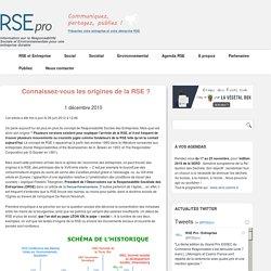 Les origines de la RSE - Concepts, Définitions, Principes