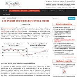Les origines du déficit extérieur de la France