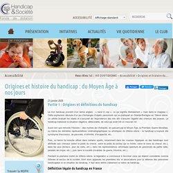 Origines et histoire du handicap : du Moyen-âge à nos jours - Fonds Handicap & Société