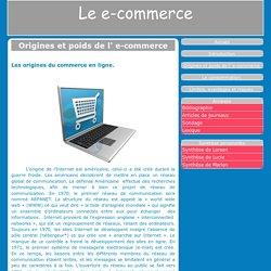 Origines et poids de l' e-commerce