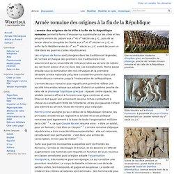 Armée romaine des origines à la fin de la République