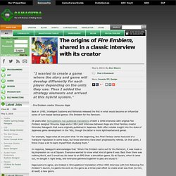 The origins of Fire Emblem, shared in a classic interview with its creator