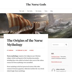 The Origins of the Norse Mythology