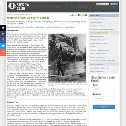 Origins and Early Outings - History - Sierra Club
