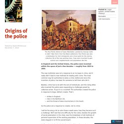 Origins of the police
