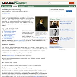 Origins of Psychology