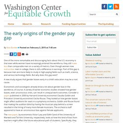 The early origins of the gender pay gap