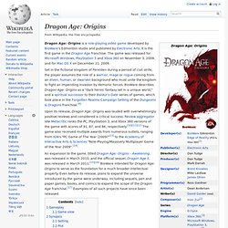 Wikipedia: DragonAge Origins