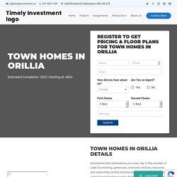Town homes in Orillia