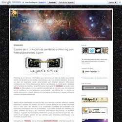 OrionSpurNews: Correo de sustitución de identidad o Phishing con fines publicitarios, Spam
