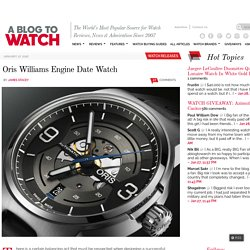 Oris Williams Engine Date Watch