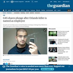 G4S shares plunge after Orlando killer is named as employee