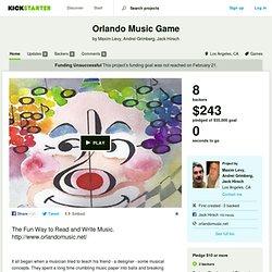 Orlando Music Game by Maxim Levy, Andrei Grimberg, Jack Hirsch