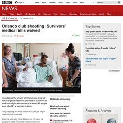 Orlando club shooting: Survivors' medical bills waived