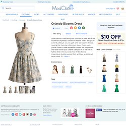 Orlando Blooms Dress | Mod Retro Vintage Printed Dresses