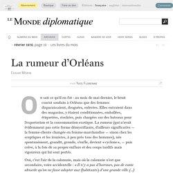 La rumeur d'Orléans, par Yves Florenne (Le Monde diplomatique, février 1970)