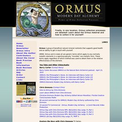 ORMUS Modern Day Alchemy