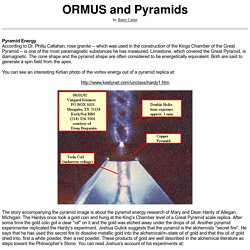 ORMUS and Pyramids