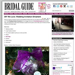 DIY Wedding Ornament - DIY Christmas Crafts