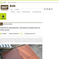 Concreto ornamental: imitando superficies de toda clase
