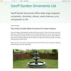 Explore various water fountains for your garden
