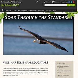 Webinar Series for Educators : Cornell Lab of Ornithology: BirdSleuth K-12