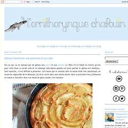 Gâteau d'automne aux pommes et au cidre