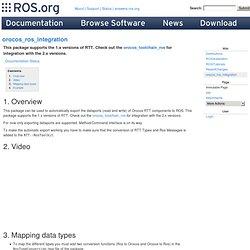 Orocos/ros Integration