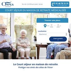 ORPEA - Court Séjour
