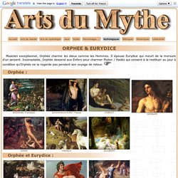 Orphée et Eurydice dans l'art.