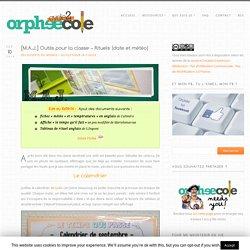 [M.A.J.] Outils pour la classe - Rituels (date et météo) - Cycle 2 ~ OrphéecoleCycle 2 ~ Orphéecole