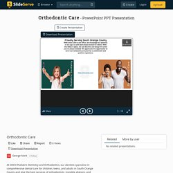 Orthodontic Care PowerPoint Presentation, free download - ID:10355624