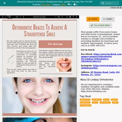 Orthodontic Braces To Achieve A Straightened Smile