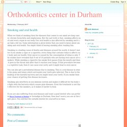 Orthodontics center in Durham: Smoking and oral health