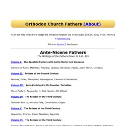Orthodox Church Fathers