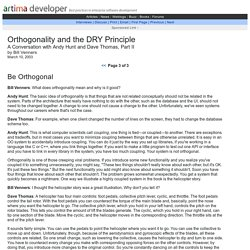 Orthogonality and the DRY Principle