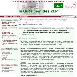 L'orthographe en ceintures en 6e et 3e au collège REP La Ville-aux-Roses(...)