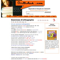 exercices d'orthographe en ligne page 3