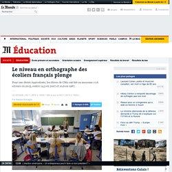 Le niveau en orthographe des écoliers français plonge