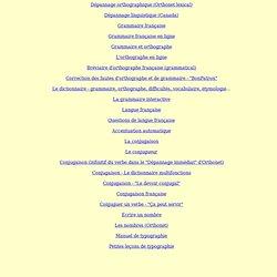 Orthographe et grammaire Fr