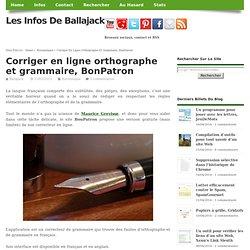 Corriger en ligne orthographe et grammaire, BonPatron